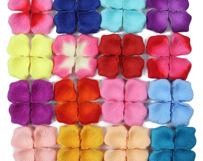 Pack of 100 Artificial Silk Rose Petals. Different Colours. Wedding Throwing Confetti.