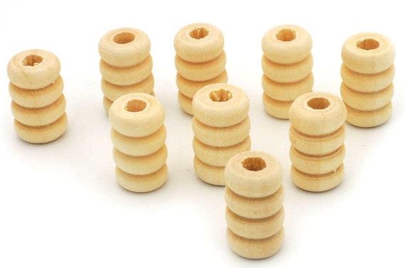 7 mm trou 12 x diamètre 18 mm ronde en bois de pin perles