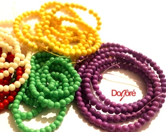 Pack of 200 Round Seed Beads. 4mm Spacers For Jewellery Making. Different Colours Available