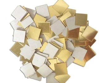 Pack of 100 Acrylic Mirror Tiles. Different Styles. 2cm x 2cm Wall Stickers.