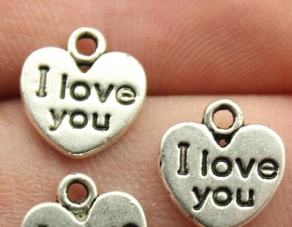 50x believe in love heart  charms 12m