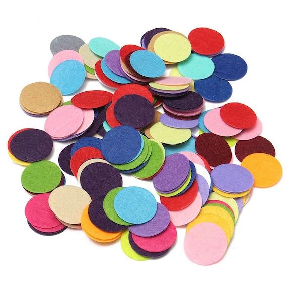 500X MINI Mixed Colors Die Cut Felt Circle Appliques Cardmaking decoration 10mm