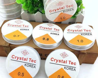 Strong Stretchy Elasticated Cord. Different Sizes Available. Crystaline or CrystalTec.