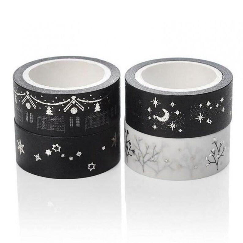 Pack of 10 Mini Christmas Washi Tape. Xmas Decorative Ribbon. image 0