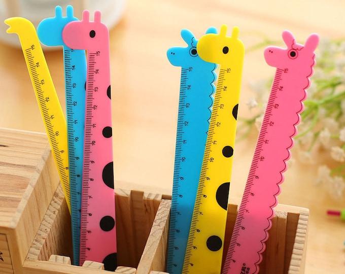 3 x Cute Children's Animal Ruler - 15cm Long.