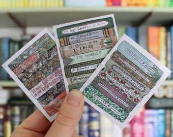 Book Stacks Sticker Set