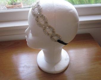 Prohibition Speakeasy Party Flapper Style Headband 20s Headband Great Gatsby Headband Roaring 20s Headpiece
