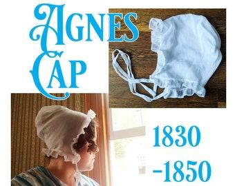 E- Pattern: Agnes Cap, 1830-1850