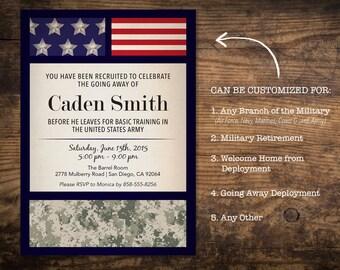 Military Invitation Etsy