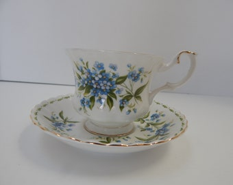 Royal Albert For get me not flower of the month tea cup