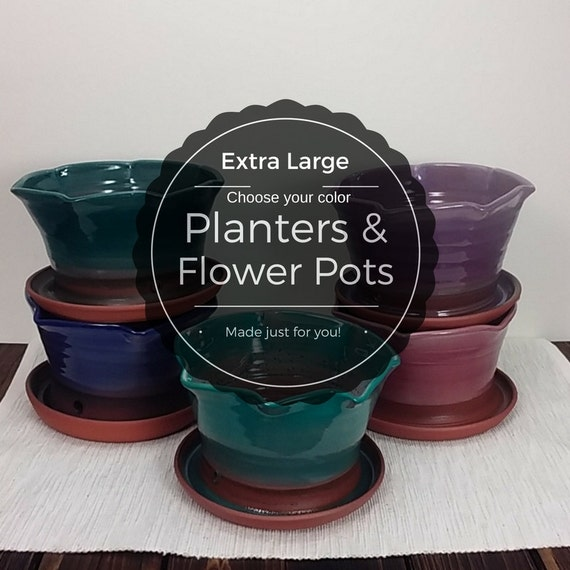Extra Large Custom Planter Custom Planter Flower Pot Clay Etsy