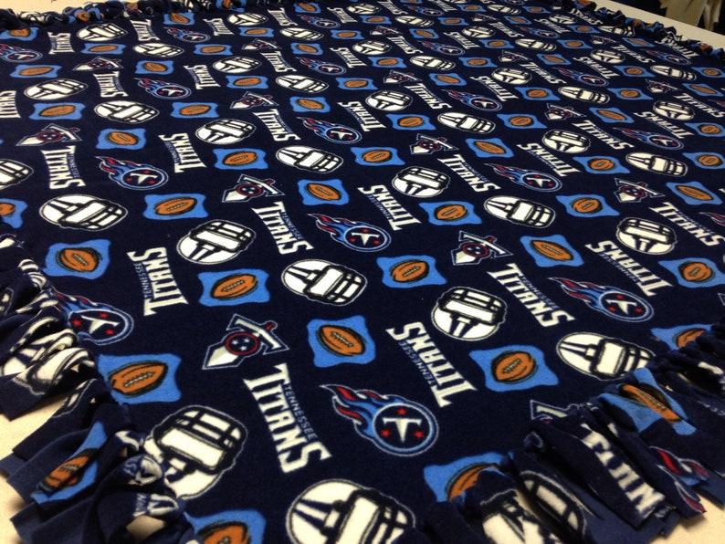 6f32cede NFL Tennessee Titans Fleece Blanket-No Sew Fleece Blanket-Large