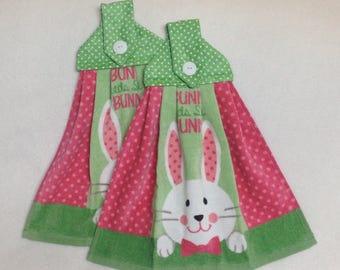 Easter Bunny Hanging Kitchen Towels Set