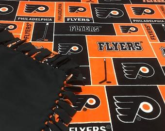 NHL Philadelphia Flyers Fleece Blanket-No Sew Fleece Blanket-Large