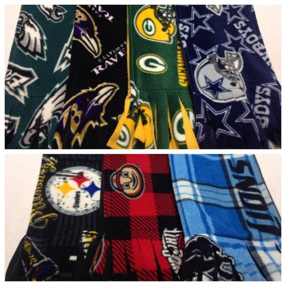 "NFL PITTSBURGH STEELERS 8/"" WIDE x 60/"" LONG BLACK//GOLD FLEECE SCARF-HANDMADE"
