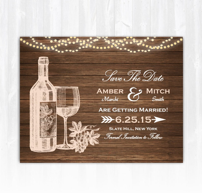 Winery Save The Date Magnet DIY Vineyard Save The Date Wine image 0