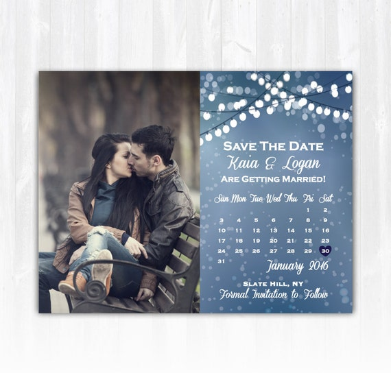 winter save the date magnet or card diy printable digital file etsy