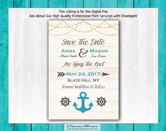 Beach Save The Date DIY PRINTABLE Nautical Save The Date Ocean Save The Date Beach Wedding Save The Date Seaside Save The Date Destination
