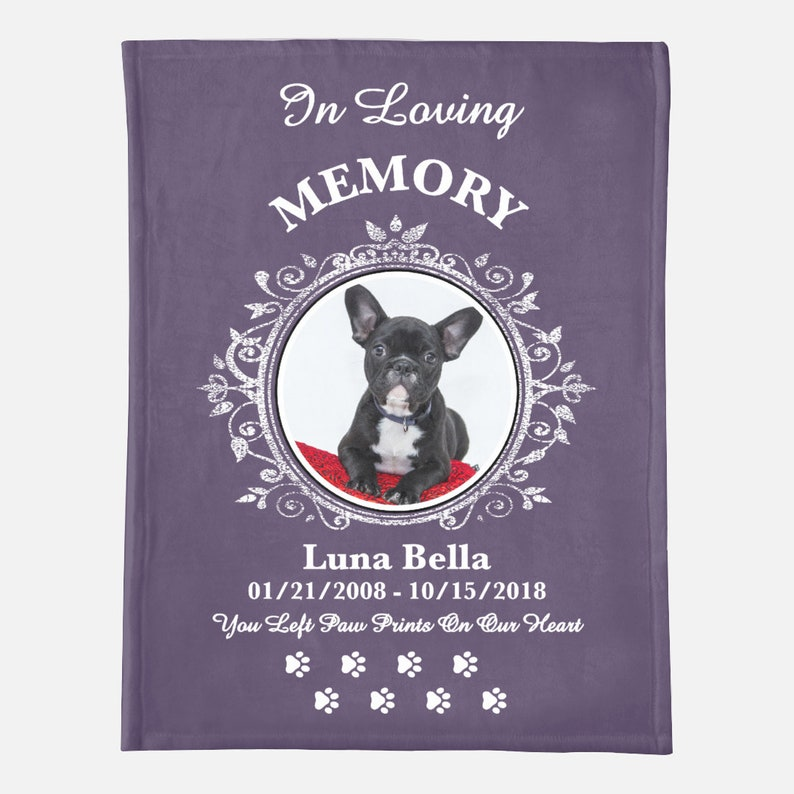 Pet Blanket Pet Photo Blanket Personalized Pet Blanket image 0