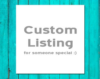 Custom Listing for 24 Hour RUSH  Processing