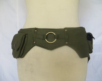 Utility belt - Fanny Pack  - Ring Model Kaki