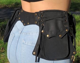 Utility belt , Festival Pocket Belt , Anvil Model , Bum Bag - Hip Bag - fits all size phones