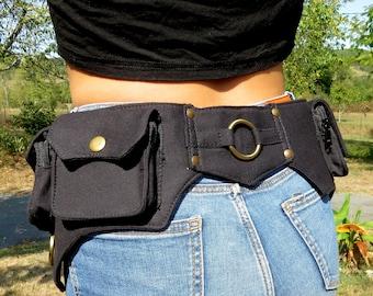 Utility Belt ,  Pocket Belt , Hip Bag , Bum Bag , Festival Fanny Pack - Ring Model