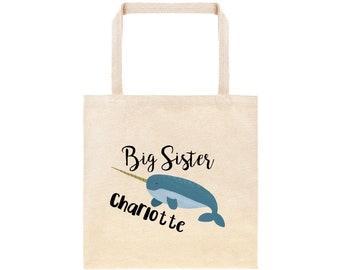 Damentaschen Letter N Is For Narwhal Large Beach Tote Bag Alphabet Cute Funny Shoulder