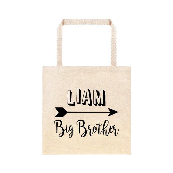 2e4e5175b518 Modern Big Brother Personalized Arrow Tote Bag    Custom