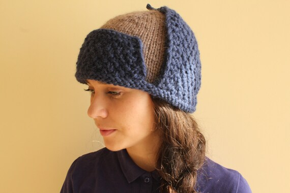 Womens Hut-Knit-Hüte pilot Hut pilot Hut häkeln stricken | Etsy