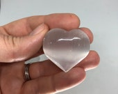 Selenite Heart Shaped Stone for Healing and to Cleanse Negative Energy