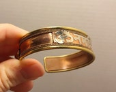 "Copper ""Om Namah Shivaya"" Bracelet / Yoga Mantra Jewelry"