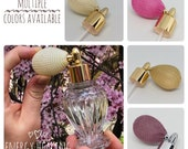 Empty glass perfume bottles  / vintage inspired perfume bottle with atomizer / refillable empty glass perfume bottle / perfume spray bottle