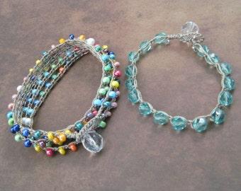Crochet Jewelry Pattern -  Crochet Wrap Bracelet tutorial - pdf instant download