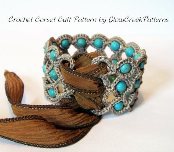 Crochet Pattern Corset Cuff Bracelet Crochet Jewelry Etsy