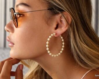 Pearl hoop earrings  2b4bd3ba1