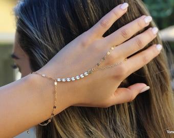 free people Gold Bracelet   Chain Hand Bracelet   Slave Bracelet   hand chain    Finger Bracelet   hand bracelet   hand jewelry  