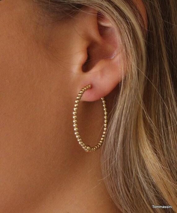 40f034722 Beads Hoop Earrings Hoop Earrings With Beads Big Hoop | Etsy