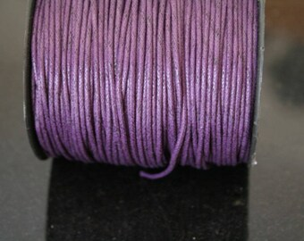 5 meters of waxed cotton cord dark violet, synthetic. (ref:1525).