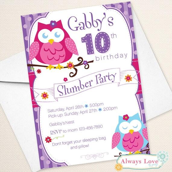 Owl Blossom Slumber Party Sleepover Birthday