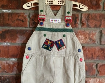 Baby & Toddler Clothing Boys Denim Dungarees Gymboree 6-12 Months