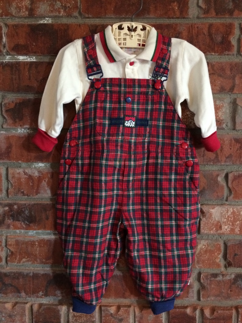 92d66c568dafc Vintage infant baby boy Gymboree overalls matching shirt and