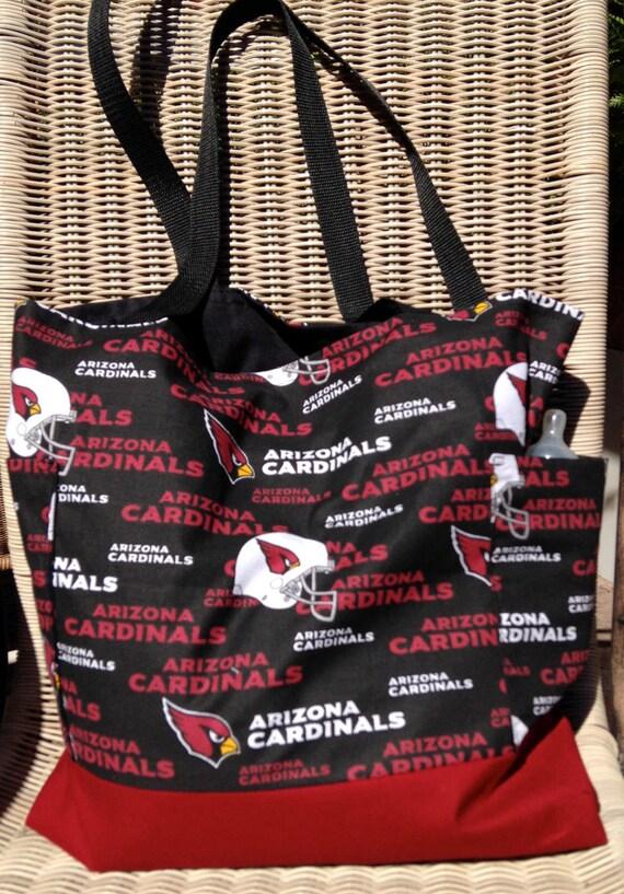 Arizona Cardinals petit sac à langer, sac à langer papa, deux à l'extérieur des poches, sac cabas, sac à main, sac à provisions, genre sac à couches neutre, sac d'école