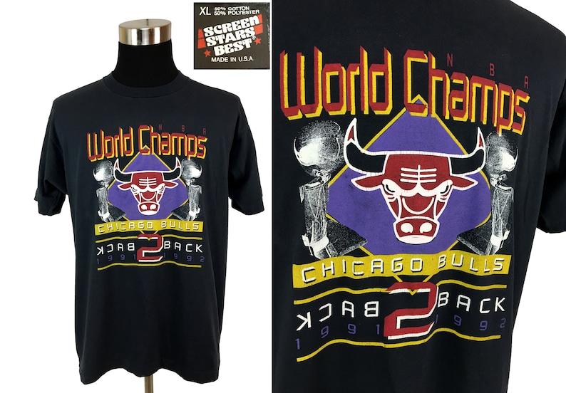 Vintage 91 - 92 CHICAGO Bulls T-Shirt XL - NBA - Basketball - Michael  Jordan - Rodman - Pippen - NBA2K - Team Bulls - 90s - Champions - Vtg