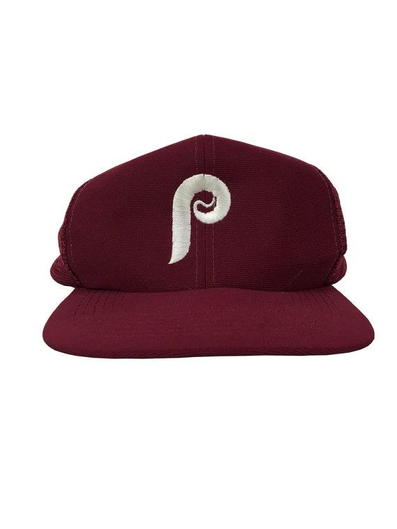 Vintage 80s 90s Philadelphia PHILLIES Snap-Back Trucker Hat  605fd94255db