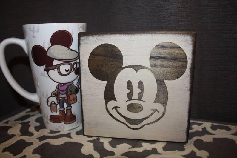 Mickey Mouse Home Decor / Coaster Disney Coaster / Sign / | Etsy