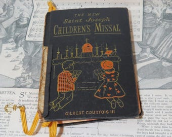 Vintage Saint Joseph's Children's Missal- 1959 Catholic Missal - Cover Damaged