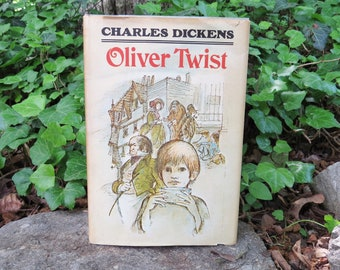 1956 OLIVER TWIST Charles Dickens Classic HB Junior Deluxe Book Club Edition