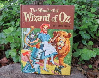 The Wonderful Wizard of Oz 1957 Whitman Publishing Frank Baum- Illustrated
