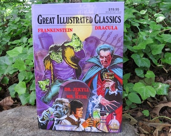 Frankenstein, Dracula, Dr Jekyll & Mr Hyde Vintage Illustrated Classic- 3 books in one- 1998